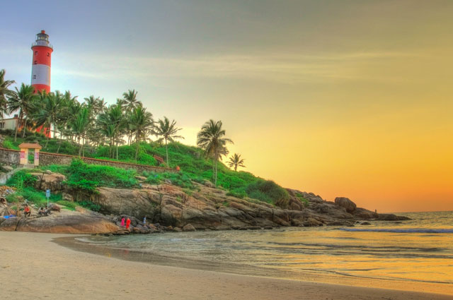 Kovalam Beach is one of the most popular beach in Kovalam