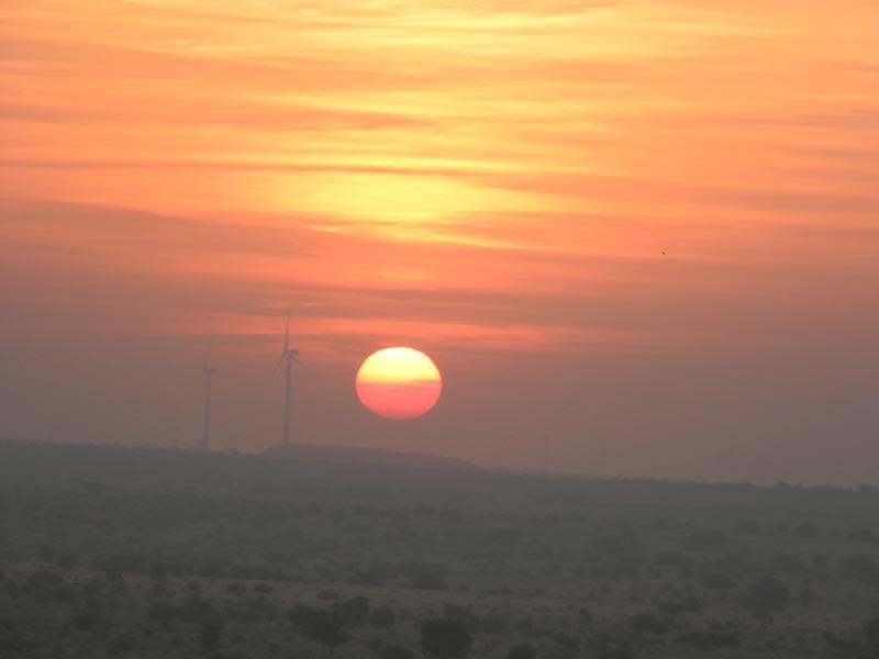 Sun Rise in Desert