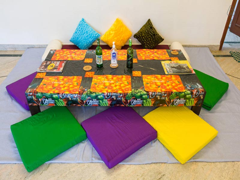 Our colorful Dining Space