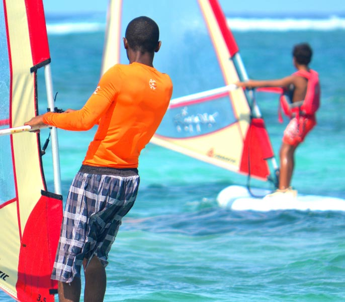 Windsurfing at Flamboyant