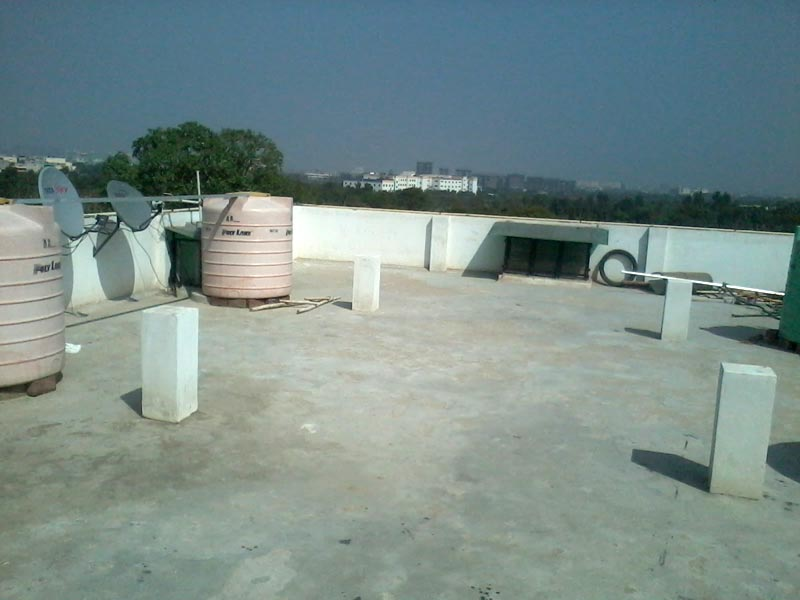 Open terrace of Shree Ram Guest House