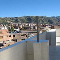 Peru bergsport main Terrace of the Hostel