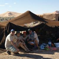 Berber tant in desert