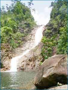 Berkelah Falls in Pahang