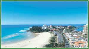 Coolangatta Beach in Queensland