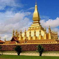 Great Sacred Stupa (Pha That Luang) in Vientiane