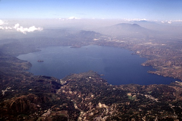 Lake Ilopango in Caldera