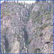 Lehamite Falls (Mariposa) in California
