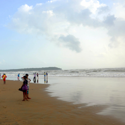 Miramar Beach in Goa City