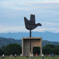 Open Hand Monument in Chandigarh City