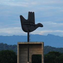 Open Hand Emblem in Chandigarh City