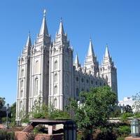 Salt Lake Temple in Utah