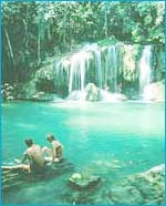 The Erawan Waterfall