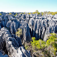 Tsingy de Bemaraha National Park  in Northwestern Madagascar