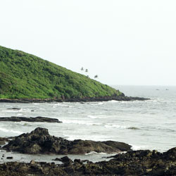 Vagator Beach in Goa City