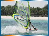 Windsurf in Kenya in Mombasa