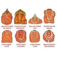 Moreshwar - Moregaon - Siddhatek - Siddhivinayak  - Pali - Ballaleshwar - Mahad - Varadvinayak ,Theur - Chintamani  - Lenyadri - Girijatmaj - Ozar - Vigneshwar - Ranjangaon - Maha Ganapati