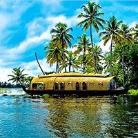 Munnar - Thekkady - Alleppey Houseboat - Kumarakom - Cochin