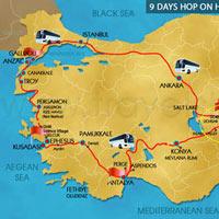 Canakkale - Kusadasi - Pamukkale - Antalya - Cappadocia