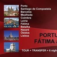 Porto - Povoa de Varzim - Barcelos - Santiago de Compostela - Pontevedra - Vigo - Viana do Castelo - Mealhada - Coimbra - Leiria - Fatima - Batalha - Nazare - Caldas da Rainha - obidos - Lisboa