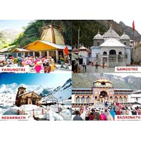 Haridwar - Barkot - Yamunotri - Uttarkashi - Gangotri - Rudraprayag - Kedarnath - Badrinath - Joshimath - Kirtinagar - Rishikesh