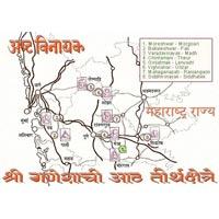 Ozar - Lenyadri - Bhimashankar - Rajangaon - Alandi - Dehu - Mahad -  Pali - Theaur - Jejuri - Morgaon - Siddhatek