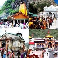 Delhi - Rishikesh - Barkot - Yamunotri - Uttarkashi - Gangotri - Guptkashi - Gaurikund - Kedarnath - Gaurikund - Pipalkoti - Badrinath - Srinagar - Hardwar
