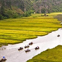 Ha noi Old Quarter - Halong Bay - Luangprabang City - Natural Khuangsi Waterfall - Cambodia Beauty Spots - Ho Chi Minh - Dynamic City