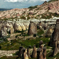Cappadocia - Red & Rose Valley - old Christian Village of Cavusin - Pigeon Valley - Kaymakli Underground City - Ortahisar Castle - Mustafapasa Greek village - Devrent and Monk's Valley - Avanos - Goreme Open Air Museum - Castle of Uchisar