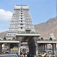 Kalahasti (Sri Kalahastiswaraswarny - Air) - Kancheepuram (Sri Ekambareshwarar - Earth) - Thiruvannamalai (Arunachaleshwarar - Fire) - Ramanashram - Tiruchi - Thiruvanaikaval (Jambukeshwarar - Water) - Chidambaram (Sri Nataraja - Ether)