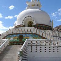 Shey - Thiksey - Hemis - Stok - Khardongla - Shanti Stupa - Leh