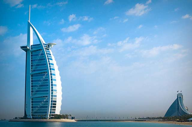 Burj-Al-Arab is one of the most popular tourist spot in Dubai