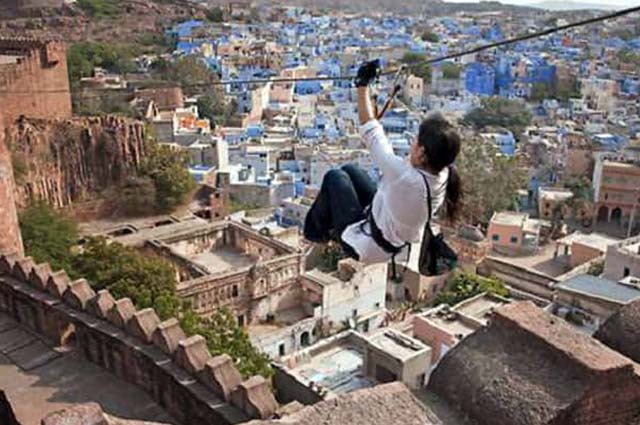 Flying Fox is an enthralling activity that can be experienced in Jodhpur