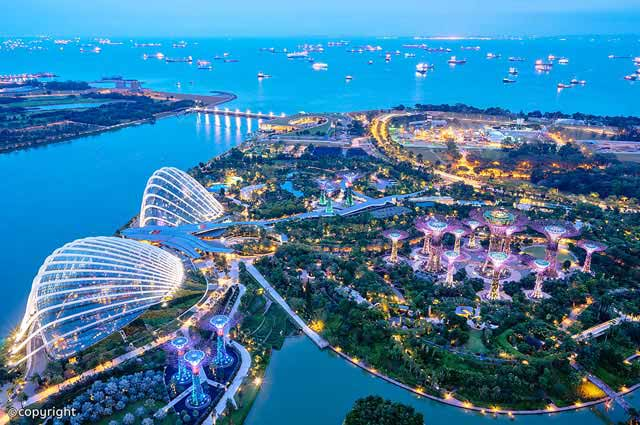 Gardens By The Bay is most famous places in Singapore