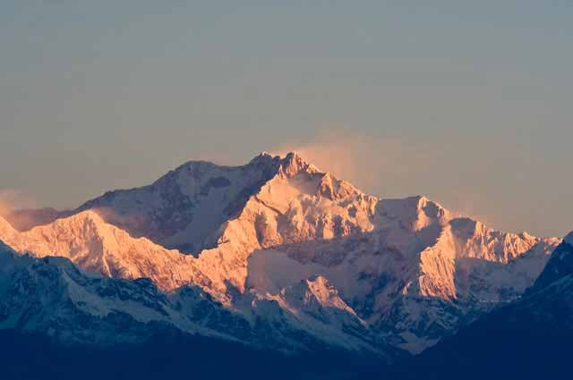 Kanchenjunga mountain is the 3rd largest peak in the world