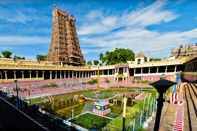 Meenakshi Amman Temple, Madurai is one of the hindu pilgrimage sites of india