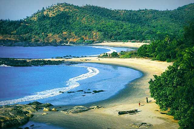 Om Beach is a well-known beach in Gokarna