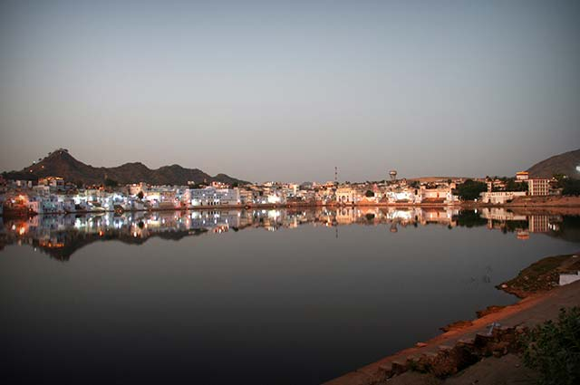 Pushkar Lake is a major point of interest in Pushkar