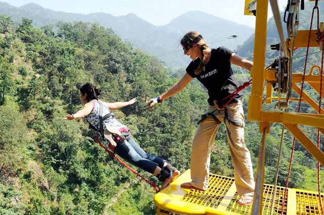 Rishikesh is a perfect place to experience the thrill of bungee jumping amid nature