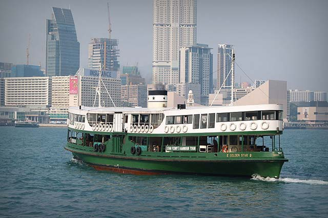 Star Ferry is well known places in Hong kong