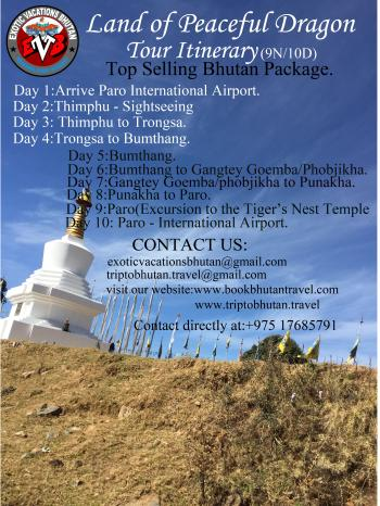 Bhutan at a Glance Tour