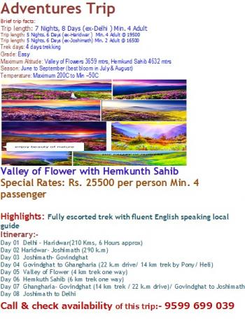 Valley of Flower with Hemkunth Sahib Gurudwara