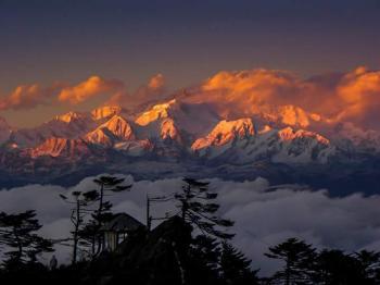 Mighty Kanchendzonga  view from Pokthey dara Singile-la trek