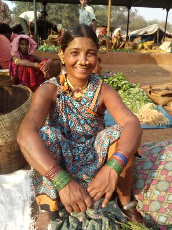 Bartra Tribal Lady at the Market- Odisha (Orissa)