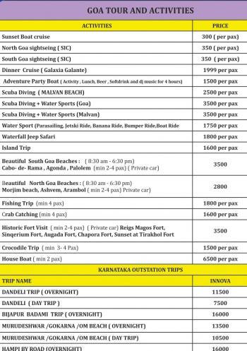 Goa Tour & Activities
