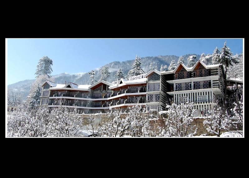 Glacier Resort in winters.