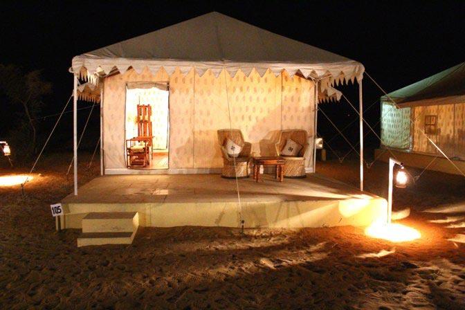 Swiss tent outside photo