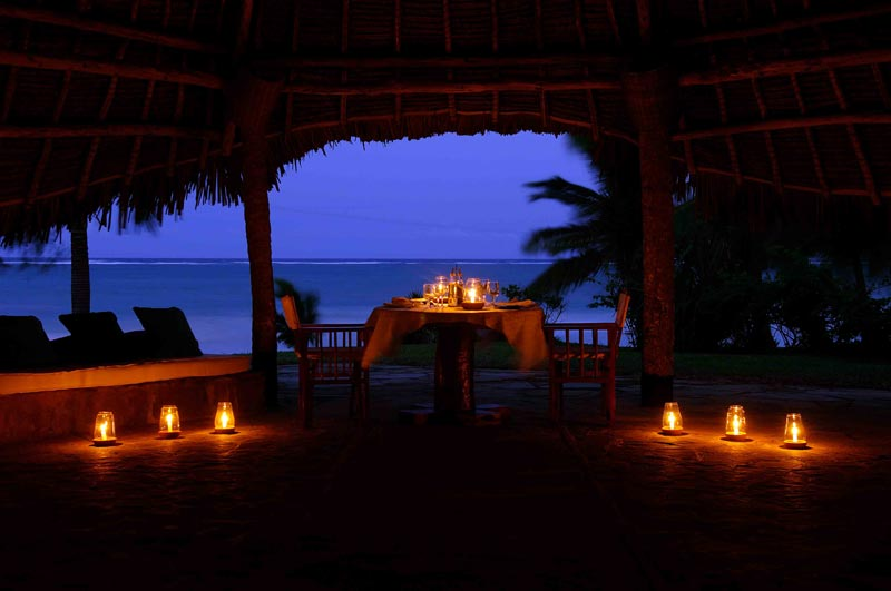 Candlelit Dinner at the beach front gazebo