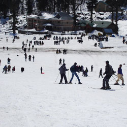 Snow Skiing in Auli in Auli