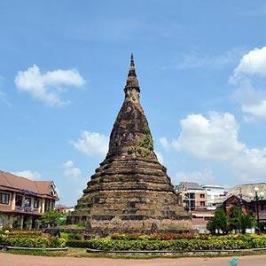 Black Stupa (That Dam) in Vientiane